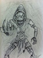 Scarecrow with Pen by loki-iago