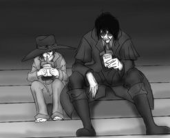 Father and Son Midnight Snack by TheProphetTalia