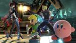 Bayonetta Toon Link Cloud Strife and Kirby by user15432