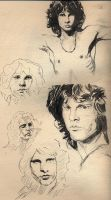 jim morrison sketches by Myrrhiam