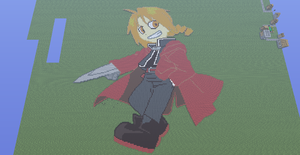 Edward elric minecraft pixel art by speedcow12