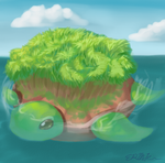 giant turtle by Rabid-Bunny-Slippers