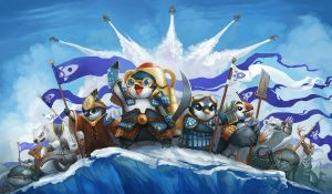 Penguins of Antarkir by ALRadeck