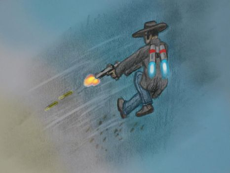 Jetpack Desperado (Digitally Colored) by Rehtael