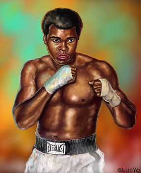 muhammad ali digital painting by MwLucYo
