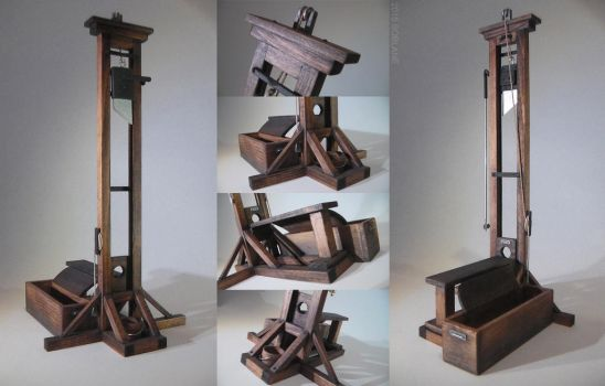 Miniature Wooden Guillotine Replica - Execution by faustdavenport
