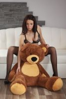 Alice in pregnant and bear by fotomartinez