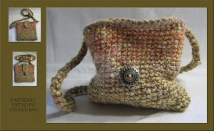 Raspberry Pistachio Chickie Bag by Mattsma