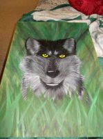 wolf painting by holyhell111