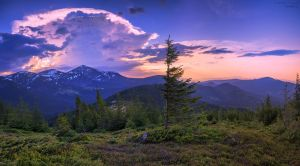 Evening storm over the Carpathians by KARRR