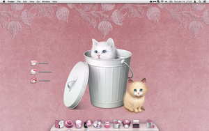 My Cute Kitty Pink Desktop by Shrantellatessa