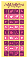 Social Media Icons For Mommy Bloggers by Designbolts