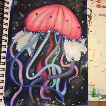 Jellyfish Mixed Media Fun by Sniffy678578