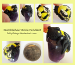 Bumblebee Stone Pendant by Bittythings