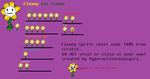 Flowey the Flower sprite sheet by HyperactiveChaosgirl