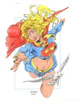 Supergirl by Segovia Colored By Seter by Dseter