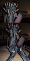 Hand Art-Both Mermaids by sadwonderland