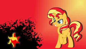 Sunset Shimmer Wallpaper by Stratolicious