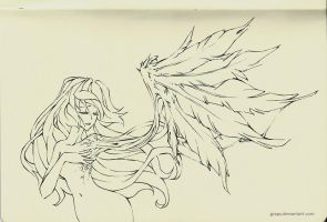 sketches - wing by Grapy