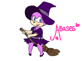 Base 48: Sonic Female Base: Witch and Broom. by Amies-Bases