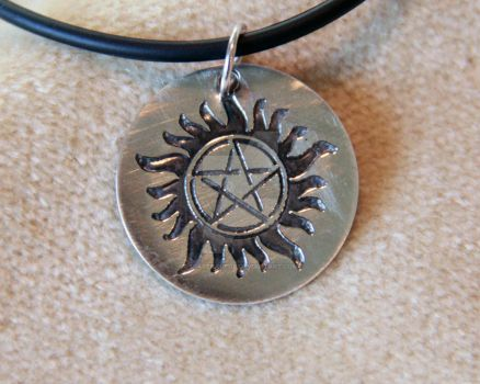 Supernatural Anti-Possession Pendant Silver by spaceraptor