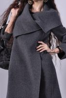 Grey Cashmere A-line Coat 1 by yystudio