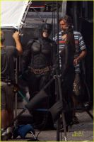 Batman and Catwoman on the set by SicSlipknotMaggot