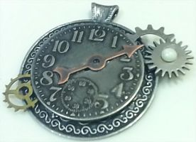 Steampunk 'ed Necklace by Deathsdoor-inc