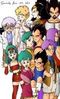 The Vegeta-Briefs Family by gwendy85