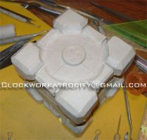 The Weighted Companion Cube by Clockwork-atrocity