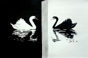 The Black Swan... [watercolor] by MasterV3GA