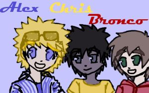 Alex Chris and Bronco by LilSnowFox
