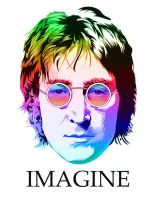 John Lennon vector two by choffman36