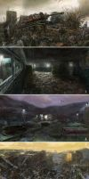 Voice of Pripyat 3D postnuclear concepts by DartGarry