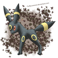 Crystal Umbreon by fluffycawwot