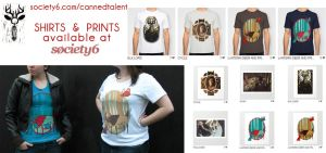 Shirts  at Society6 by CannedTalent