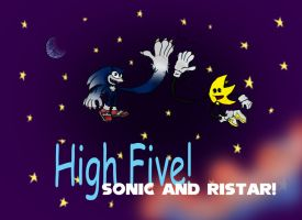 Hi5 Sonic and Ristar by MysticM