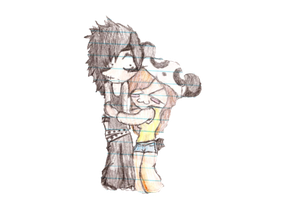 .:Request:. Andy Biersack and Grace~ chibi by XxAlternative-Dreams