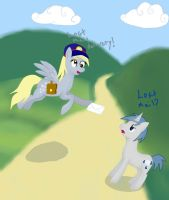 Derpy and Frostbite: lost mail by WolfyOmega