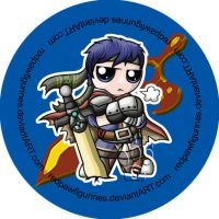 Ike Chibi Badge by RedPawDesigns