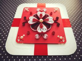 quilling card Love and passion by othewhitewizard