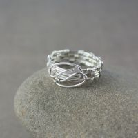 Silver-plated unisex ring by WhiteSquaw