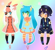 Uniformed Kemonomimi Adoptables (CLOSED) by lifeforce10