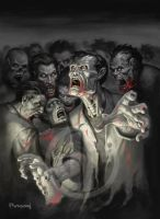 Zombies by namesjames