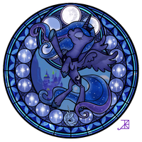 Luna Stained Glass Season 2 by Akili-Amethyst