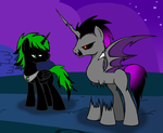 Prince Dark Thorn and Night Terror by DeviousSkull