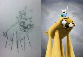 Finn and Jake Comparison by Valashard