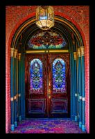 Stained Glass Door by joelht74