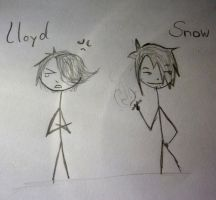 Lloyd And Snow Stickman OCs by Werfisch
