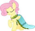 Fluttershy Dress - Journey of the Spark Vector by Hourglass-Vectors